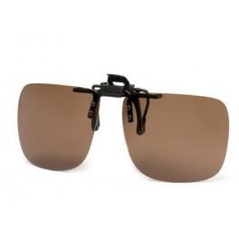 Description: ochelari de soare polarizati clips on cu lentila maro